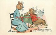 Louis Wain Davidson Bros No 6902-1 Cats The Worried Look Of The Married Woman