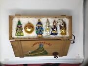 Kurt Adler Polonaise Wizard Of Oz Ornaments Set Of 6 In Wood Crate Limited Ed