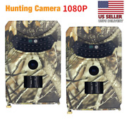 2pack Hunting Camera Trail Outdoor Wildlife 12mp Scouting Cam Night Vision 1080p