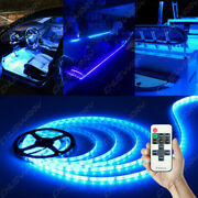 Neon Led Strip Light Wire String Strip Decor Car Party + Controller 16.4ft Blue