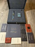 S.t. Dupont Andalusia Limited Edition Fountain Pen And Lighter New With Box
