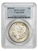 1879-cc 1 Pcgs Au55 Capped Die Key Date From Carson City
