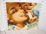 Pez 1950s Dispenser Cardboard Store Display Sign Man Woman Pinup Candy Pack
