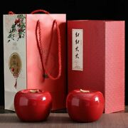Red Apple Storage Jars Tea Caddies Containers Ceramic Spice Box Bulk Food Cans