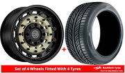 Alloy Wheels And Tyres 20 Black Rhino Arsenal For Bmw X3 [f25] 10-17