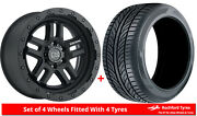Alloy Wheels And Tyres 20 Black Rhino Barstow For Toyota 4runner [mk3] 95-02