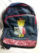 Vintage 95andrsquo Sanrio Winkipinki Blue Zip Cloth Backpack Please Read Free Ship