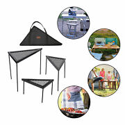 Portable Triangle Net Table Iron Camping Table For Outdoor Bbq Accessories
