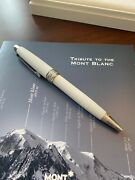 Tribute To The Mont Blanc Ballpoint Pen 106846 New In Box White