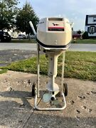 Outboard Engine, 1966 Johnson Sea Horse 9 1/2 Hp, Fuel Lines +tank,manual, Clean