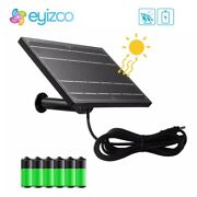 8w 5v Mini Solar Panel Powered For Ip Security Camera Wifi 18650 Battery Outdoor