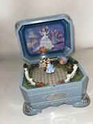 Vintage Disney Spinning Cinderella And The A Dream Is A Wish Music Box 🔥