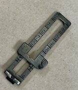 Arisaka Type 38 Parts - Rear Sight Leaf With Slide Assembly - Rust Blue