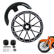 21x3.5 Front Fender And Wheel Rim Hub Dual Disc Fit For Harley Road Glide 08-21