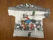 Vintage Disney Goofy All Over Print Front And Back Menandrsquos Size Large Rare Vtg