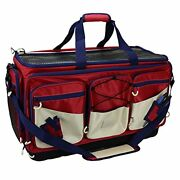 Saltwater Resistant Fishing Tackle Bag Heavy-duty Tackle Box Red X-large