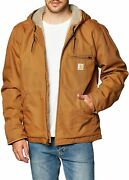 Menand039s Relaxed Fit Washed Duck Sherpa-lined Jacket