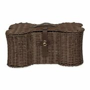 Pet Storage Collection Toy Basket Large, 24x15x9 Brown Plastic Wicker