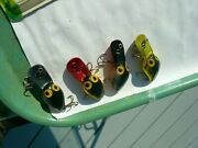 Lot Of 4 Storm Wee Warts Pre Rapala Beauties Hard To Find 2 Red Belliesprimo