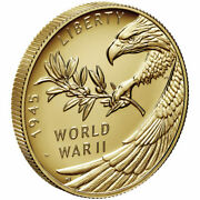 2020 End Of Ww Ii 75th Anniversary 24-karat Gold Coin In Unopened Us Mint Box