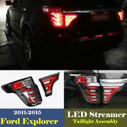 For Ford Explorer 2011-15 Smoked Led Taillight Assembly Brake Light Turn Signal