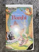 Bambi Vhs, 1997 Vintage Disney Movie Good Condition Works Plays Fast Shipping