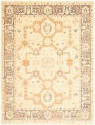 Vintage Geometric Hand-knotted Carpet 8and03910 X 11and0396 Traditional Wool Area Rug