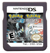 2 In 1 Black2 White2 Video Games For Pokemon Ds 2ds 3ds Ndsl Gift