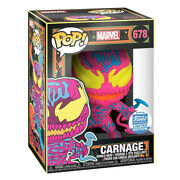 Funko Pop Marvel Black Light Carnage 678 Funko Shop Exclusive Gift W/protector