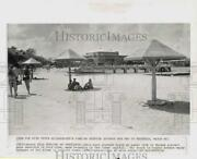1964 Press Photo View Of Nearly Deserted Beach At Yacht Club In Havana, Cuba