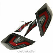 Taillights Smoke Assembly Led Rear 1 Pair Full Pieces For Honda Civic 2016-2020