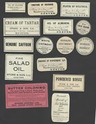 An Old Time Collection Of Turn Of The Century Medicine Labels With Full Gum