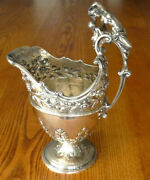 1742 Antique Richard Gurney And Co. British Sterling Silver Engraved Pitcher 642g