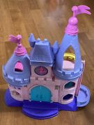 Fisher Price Little People Disney Princess Songs Palace Castle 7 Figures Lot