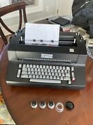 Working 1970s Vintage Ibm Selectric Ii Correcting Typewriter W/cover And Extras