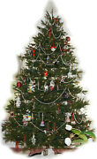 Christmas Tree 7-andfrac12andrsquo Pre-lit Barcana Alaskan Deluxe Fir With Crystal Ornaments +