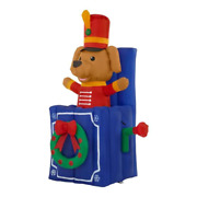 5 Ft. Led Animated Airblown Pop Up Toy Soldier Dog Christmas Inflatable Decor