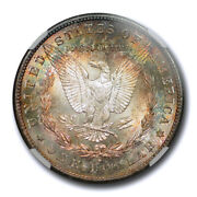 1883 S 1 Morgan Dollar Ngc Ms 61 Uncirculated Colorful Toned Beauty