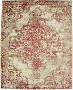 Distressed Floral Modern Design 8x10 Hand-loomed Rug Contemporary Decor Carpet