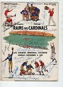 Signed 1949 Official Program La Rams Vs Chicago Cardinals 15 Auto On Front