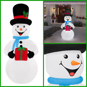 Christmas Inflatable Outdoor Decor 6.5 Ft Airblown Snowman With Led Lights
