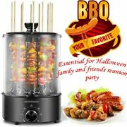 Electric Grill Smokeless Rotating Vertical Rotisserie Oven Barbecue Grill