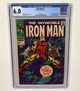Iron Man 1 Cgc 6.0 Key White Pages 1st Issue Of Series 1968 Marvel Comics