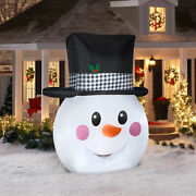 8.ft Christmas Snowman Airbown Inflatable Outdoor Yard Xmas Decor Led Lights-new