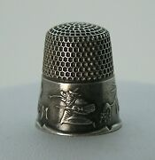 Hauntingly Rare Sterling 1800's Ketcham Mcdougall 1692 Salem Witch Thimble Nice