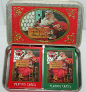 Coca Cola Vintage 1998 Christmas Playing Cards In Tin