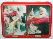Coca Cola Vintage 1996 Christmas Playing Cards In Tin New Sealed