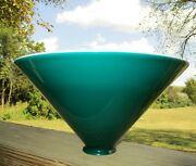 Vintage Emeralite Green And White Cased Cone Glass Lamp Light Pendant Shade 10
