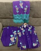 Rare Vintage Viola Grae Embroidered Western Outfit And Saddle Drape