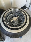 Wire Wheels 4 13x7 With Adapters and Knock Offs And 155/80r13 Whitewall Tires.